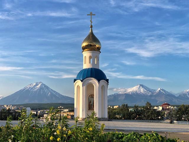 Detalle de la catedral de Petropavlovsk (Kamchatka)