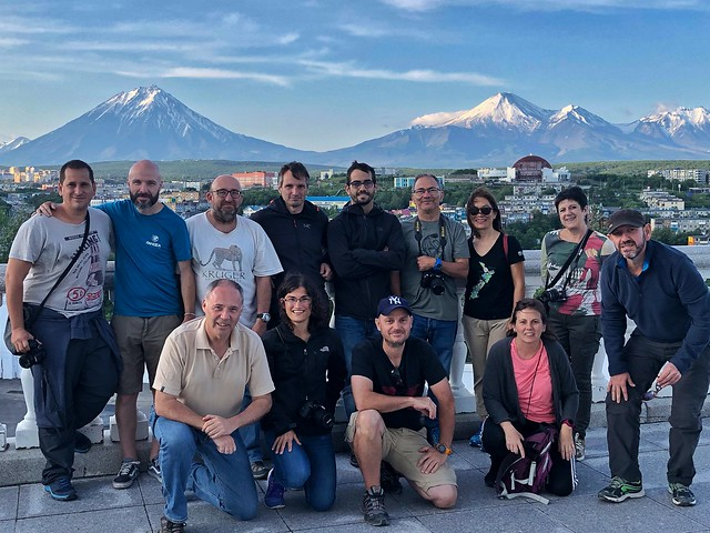 Equipo de la Expedición Kamchatka en Petropavlovsk