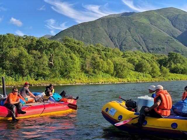 Rafting en el río Bystraya de Kamchatka (Rusia)
