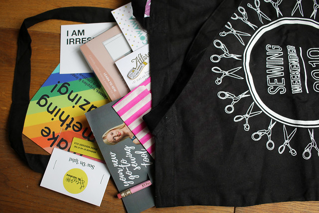 Sewing Weekender 2019 Goodie Bags