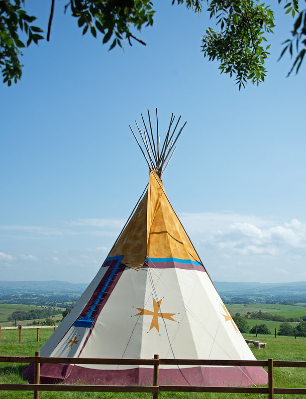 Tepees are a common shelter abode within glamping space and provide reinforcement of glamping's historic connection and sense of adventurous experience, wilderness adventure and cultural immersion.
