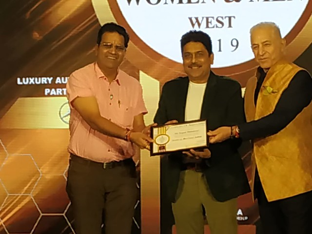 brajesh maheshwari honoured with the times power men west india 2019 award