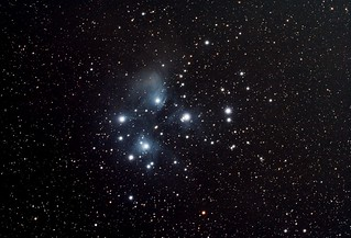 M45 PS Edit Stack_70frames_2100s_WithDisplayStretch | by BlackWikkett