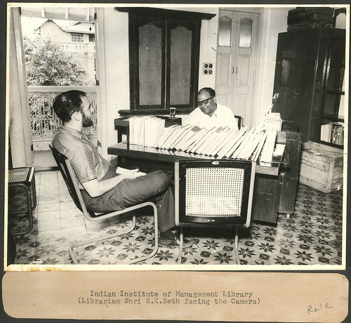 Mr S K Seth the first librarian | by IIMA Archives
