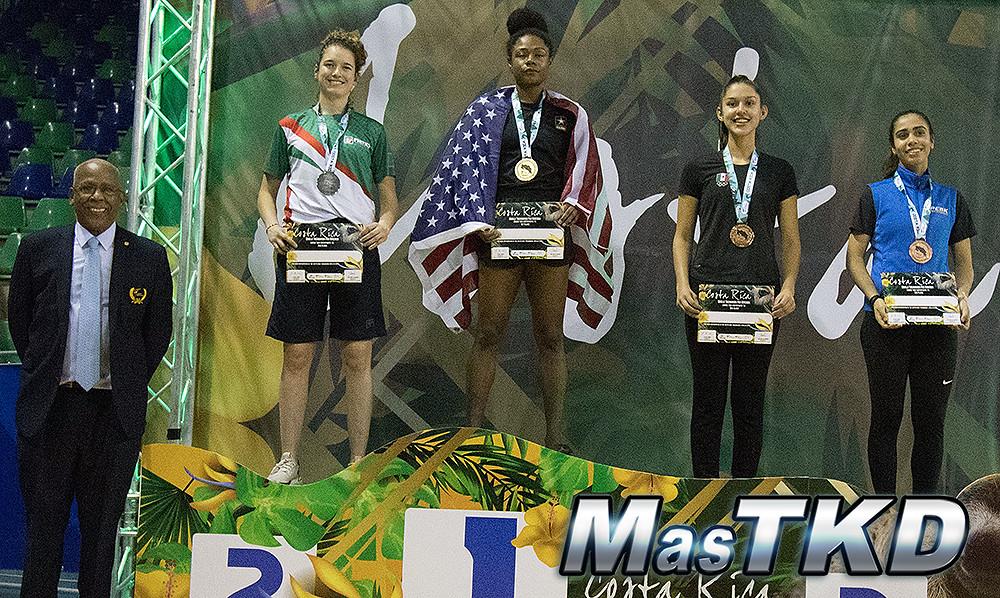 Paulina Armería fue medalla de plata en el Costa Rica Taekwondo Open G1 2019. Foto: Claudio Aranda/MasTKD.com