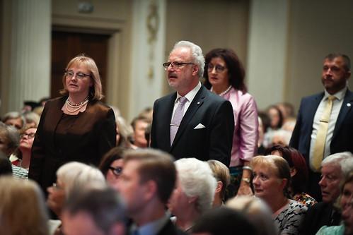 Valsts prezidents Egils Levits piedalās Latvijas Nacionālā arhīva simtgades svinībās
