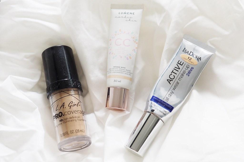 Elokuun loppuneet kosmetiikkatuotteet
