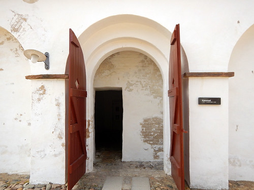 Arched doorway into Aalborghus Slot in Aalborg, Denmark