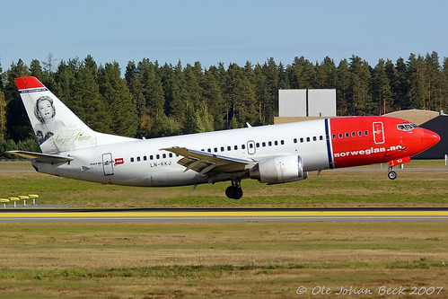 Norwegian B737-36N LN-KKJ at ENGM/OSL 13-09-2007 | by Ole Johan Beck