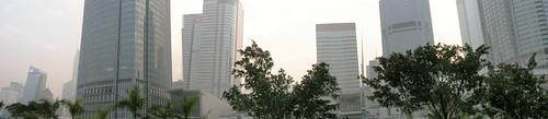 Panorama of Hong Kong high-rises