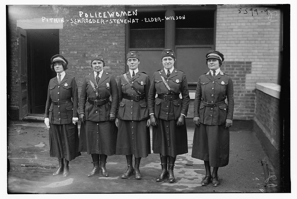 Policewomen: Pitkin, Schroeder, Stevenat, Elder, Wilson