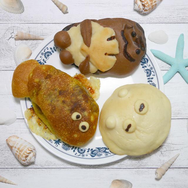 麻布十番モンタボー 水族館シリーズ パン メンダコ ラッコ カレイ