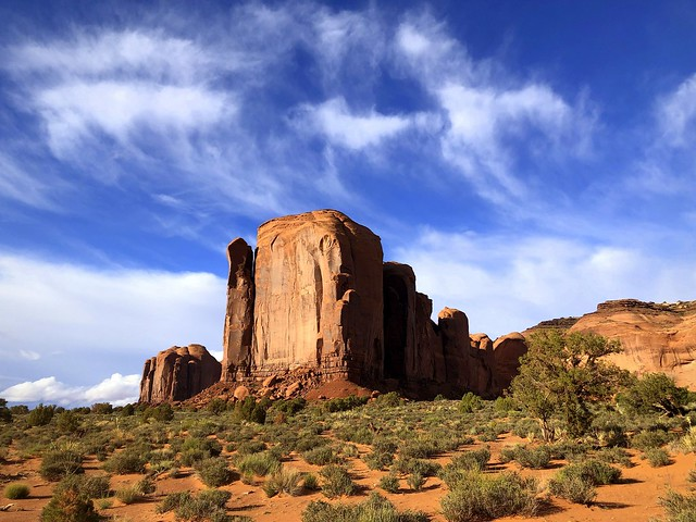 Red cliffs and blue sky