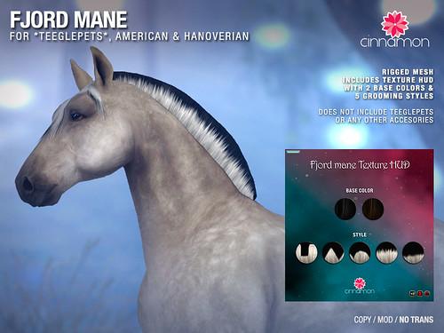 *CINNAMON* Fjord mane for Teeglepet Horses American & Hanoverian