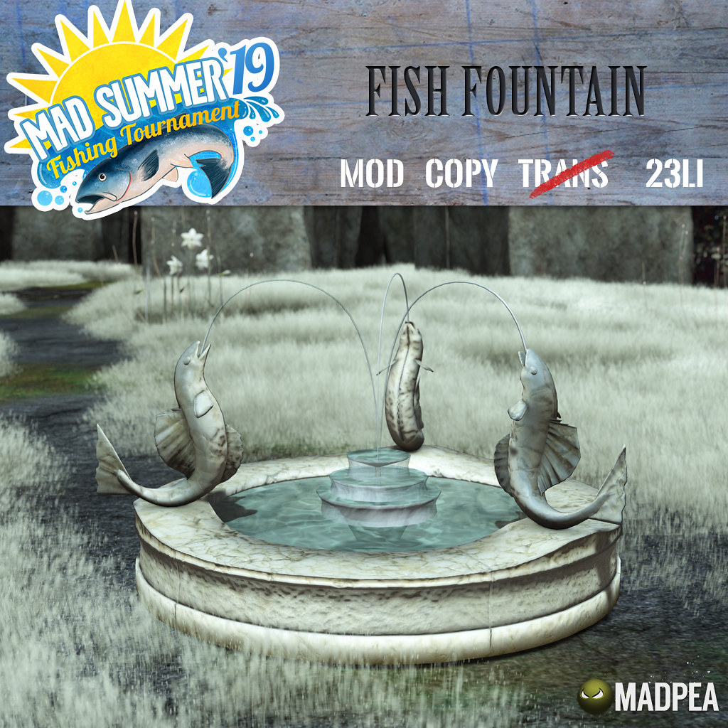 Fourth Prize Unlock: MadPea Fish Fountain!