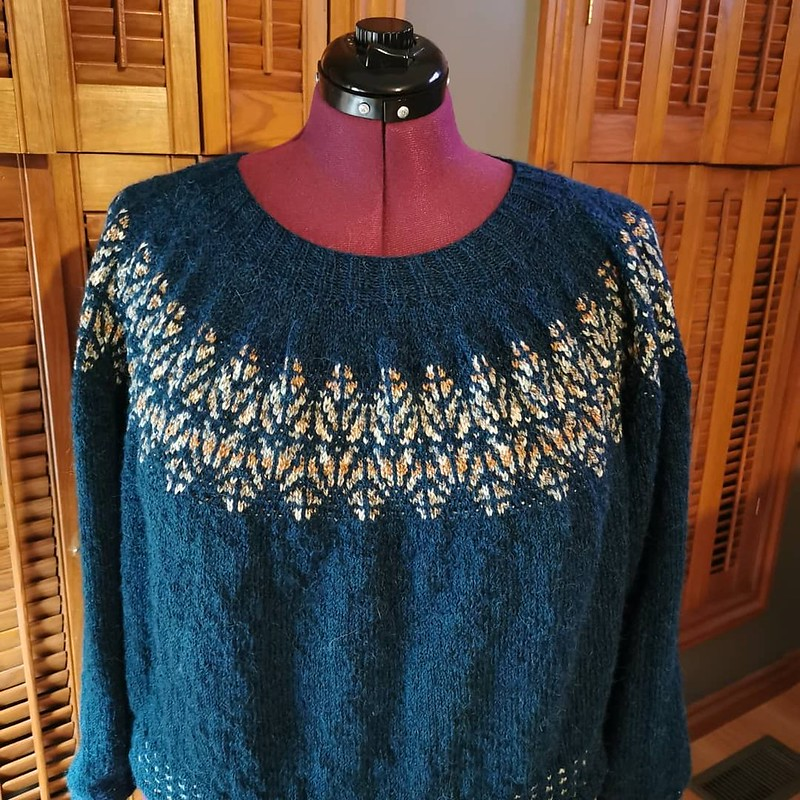 Paulette's Icefall by tincanknits from their Strange Brew book