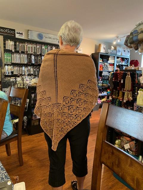 The back of Trina's shawl!