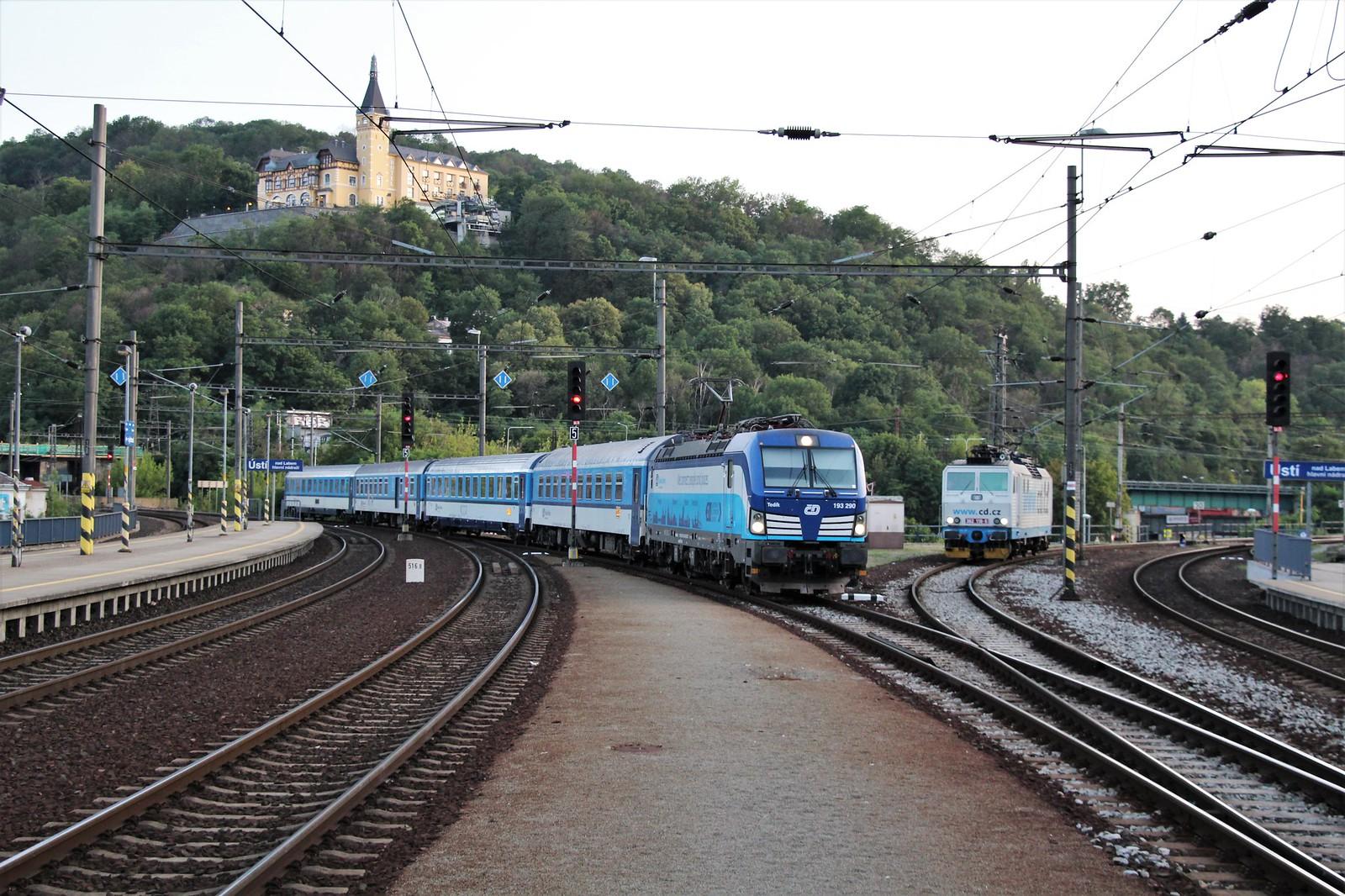 ČD Vectron 193 290 & Loc 362 110-9 - Ústí nad Labem hl.n. [CZ]