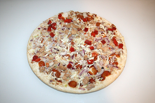 04 - Papa Joe's Steinofen Pizza  - Pulled Pork Style - gefroren / frozen