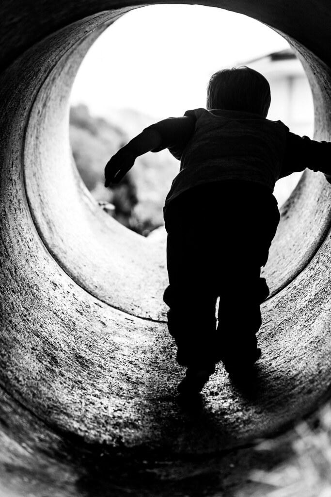 Milo thru the tunnel