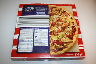 02 - Papa Joe's Steinofen Pizza  - Pulled Pork Style - Packung hinten / Packing back