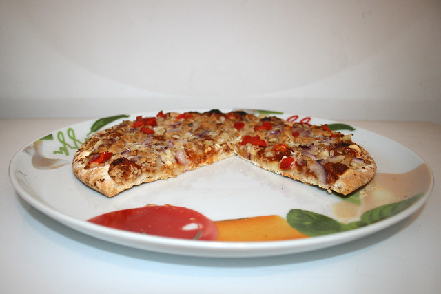 08 - Papa Joe's Steinofen Pizza  - Pulled Pork Style - Angeschnitten / Truncated