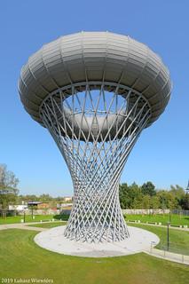 Wieża ciśnień Ciechanów. | Water tower in Ciechanów.