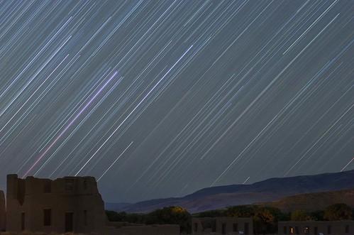fort churchill trails night star startrails nevada