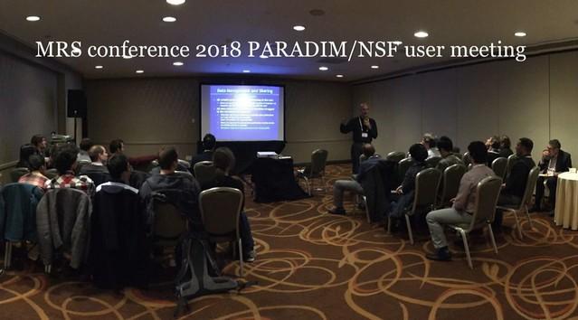 MRS User meeting 2018