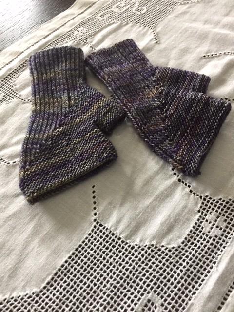 Rosemary's Bay Mitts knit with Malabrigo Mechita in Lluvias