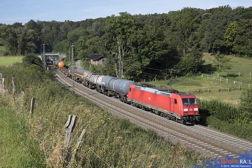 185 393 . DB Cargo (Schiebelok) . 44510 . Aachen ( Gemmenichertunnel) . 30.08.19.