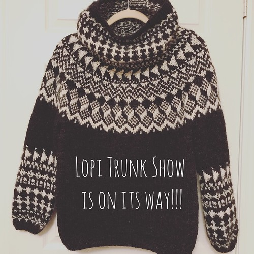 We will have the Lopi Trunk Show in the shop in September!!