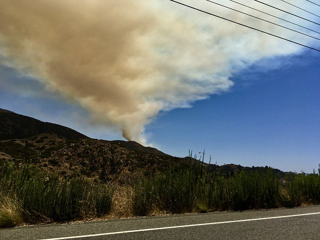 Sweetwater Mesa fire on Aug. 30