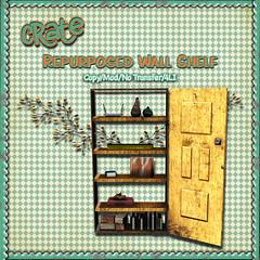 crate's Repurposed Wall Shelf