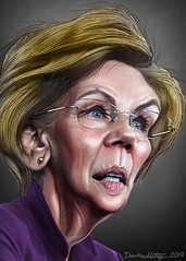 Elizabeth Warren - Caricature
