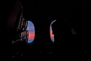Sunrise on the plane