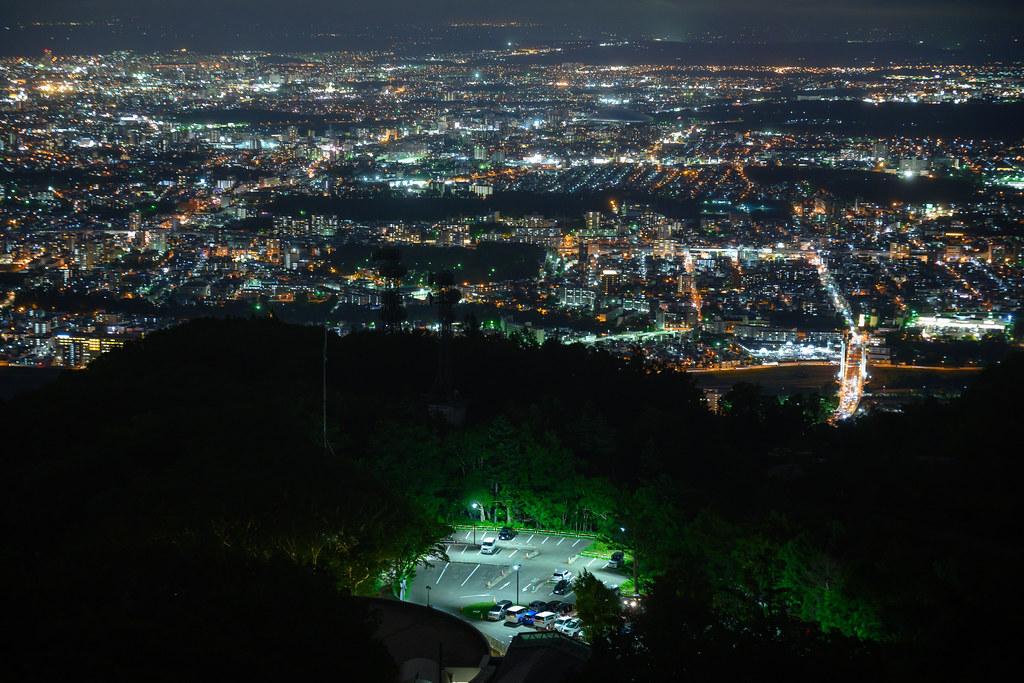 Seen from Mt. Moiwa (Sapporo, Japan)
