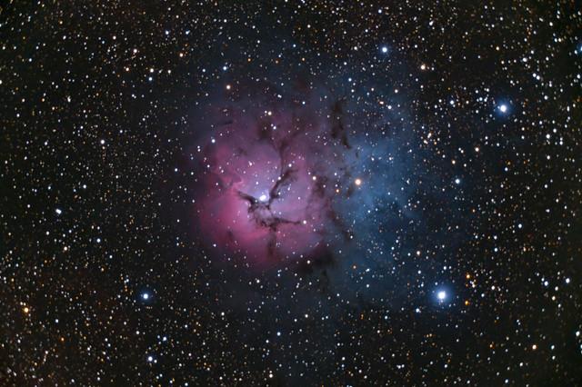 Messier 20 The Trifid nebula