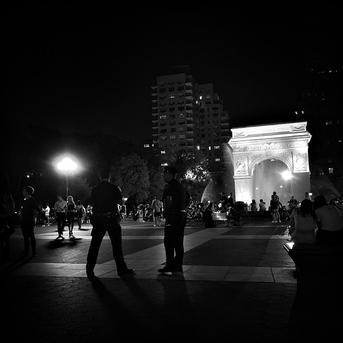 1 AM in Washington Square Park