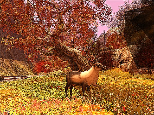 Cherishville - Sunrise Reindeer