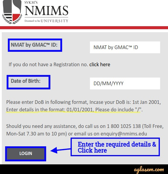 NMIMS admission 2020 login
