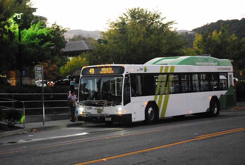 Marin Transit Gillig BRT 40' Hybrid Unit 1508