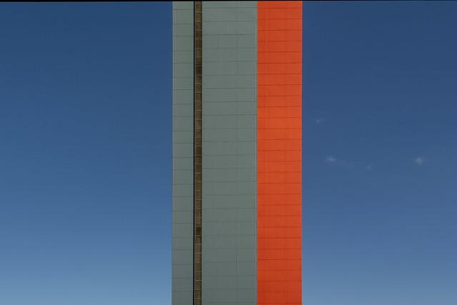 Orange and blue building