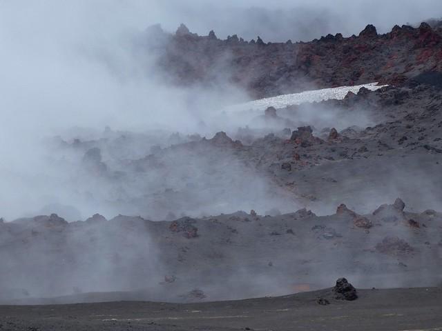 Terreno volcánico junto al volcán Tolbachik (Kamchatka, Rusia)