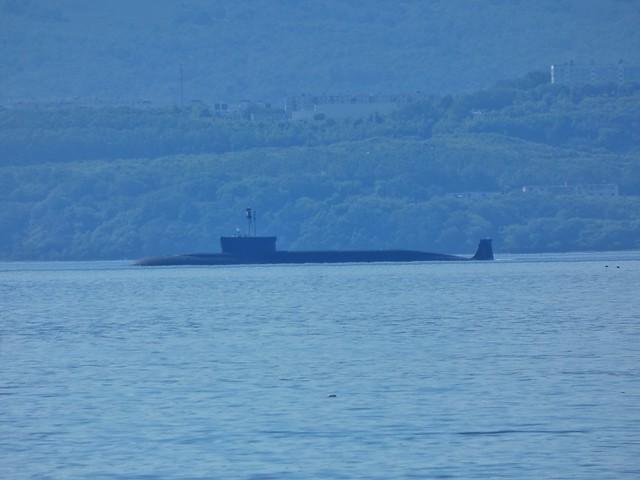 Submarino nuclear ruso en la Bahía de Avacha (Kamchatka, Rusia)