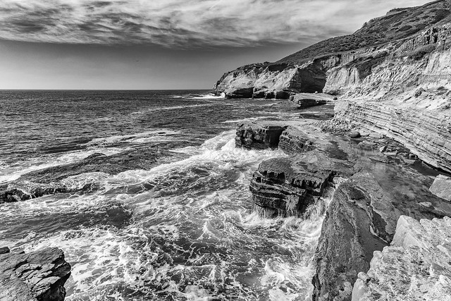 North Cabrillo Tidepools - Monochrome