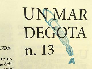 Un mar degota n.13, estiu 2019, revista d'autor de Ferran Cerdans Serra