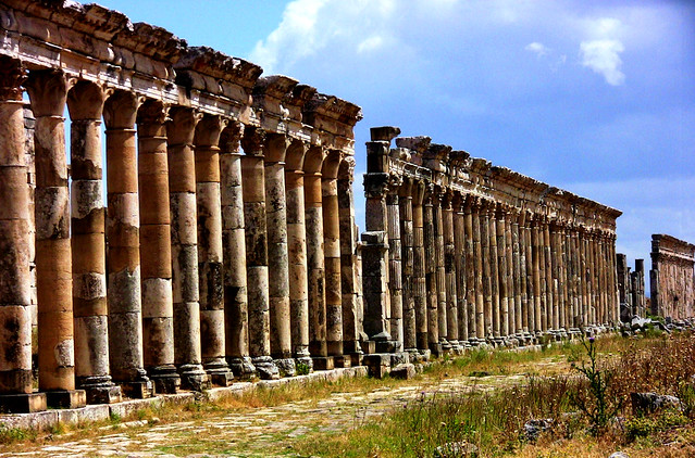 SYRIEN-Apamea, Säulen, Säulen ...8320