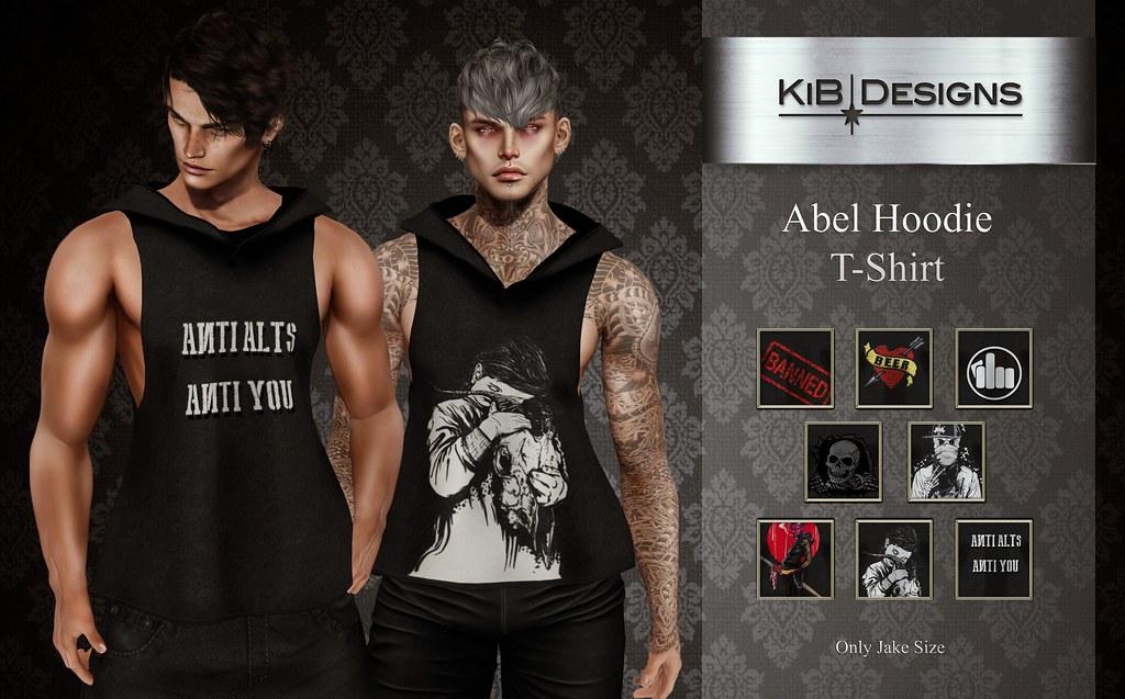 KiB Designs – Abel Hoodie T-Shirt @Darkness Event