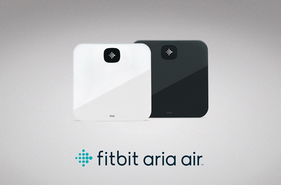 Lockup Of Fitbit Aria Air In White And Black.